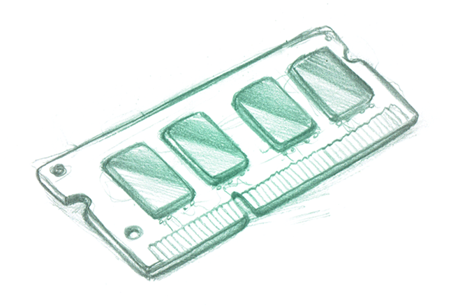Drawing of a memory module