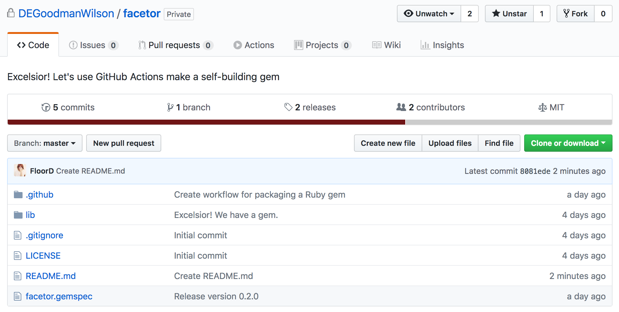 First explorations of GitHub's Actions
